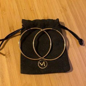 Mejuri Oversized Thin Hoops
